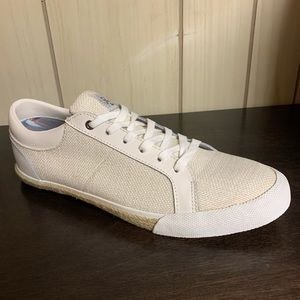 NEW Penguin White Richard Leather & Canvas Shoes